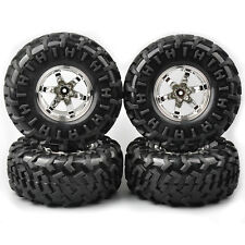 4X 130mm RC 1:10 Bigfoot Climbing Tire Rims 12mm Hex For HSP Racing On Raod Car
