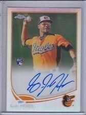L.J. HOES 2013 Topps Chrome Rookie Autograph Refractor #481/499 #154  (C3132)