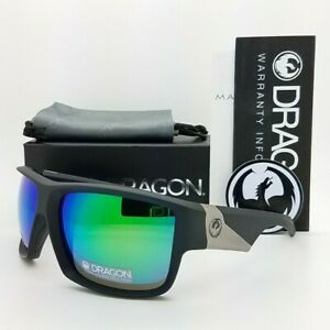 NEW DRAGON Deadlock LL sunglasses Matte Black Green Ion 61mm AUTHENTIC Dragon