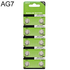 10PCS AG7 LR927 395 SR927 195 1.5V Alkaline Button Cell Coin Battery Batteries