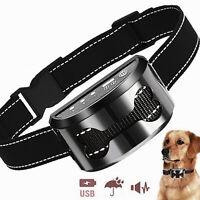 LED ad Ultrasuoni Anti-Abbaio Collare Stop cane che abbaia 4 in 1 Ricaricabile
