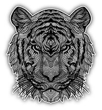 "Psychedelic Tiger Head Car Bumper Sticker Decal 5"" x 5"""