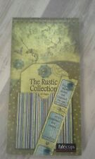 "Fabscraps the Rustic collection Die-Cut Tags Journal 8""X4"" Pad 60 Sheets"