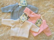 Baby Boy Girl Premature Preemie Tiny Baby Cardigan 3-5, 5-8lbs Pink Blue White