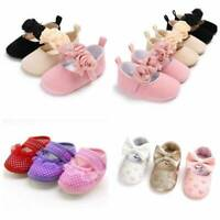 Toddler Girl Crib Shoes Newborn Baby Bowknot Soft Sole Prewalker Sneakers
