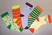 Baby/Infant Boys 5 Pair Pack ABC/123 Design Ankle Socks