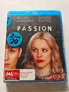 Passion Blu-ray Dvd Rachel McAdams Noomi Rapace Brian De Palma Brand New Sealed