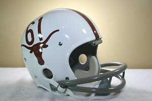 Texas Longhorns Custom 1961 Style Game RK Vintage Reproduction Football Helmet