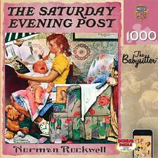 1000 SATURDAY EVENING POST JIGSAW PUZZLE THE BABYSITTER NORMAN ROCKWELL #71509