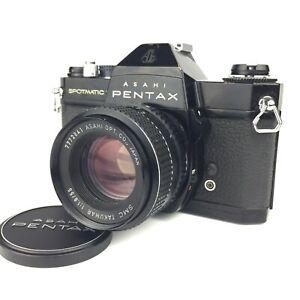 ASAHI PENTAX SpotsMatic F Camera w/ SMC TAKUMAR 55mm f1.8 from Japan