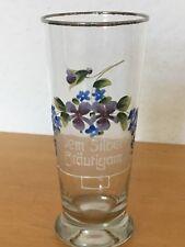 Jugendstil Glas zur Silberhochzeit dem Silberbräutigam Emaille Dekor Hochzeit