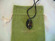Dean Harris Smoky Quartz Gemstone Pendant Necklace - Gorgeous Stone Rare NWT