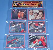 SUPERMAN Christopher Reeve SET 6 METAL CARDS w/PUZZLE COLLECTIBLE  ARGENTINA #1