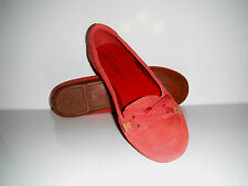 New Timberland Falmouth Ballerina Red Suede Flats Shoe  sz 6M