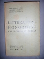 Hongrie: Panorama de la littérature hongroise contemporaine, 1930, BE