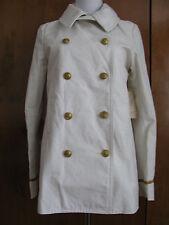 Denim & Supply women's military style white peacoat New