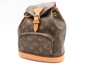 Auth LOUIS VUITTON Mini Montsouris PM Monogram Canvas Backpack Bag M51137 V-5753