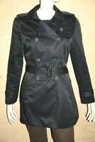 CAROLL Taille 40 Superbe imperméable doublé bleu marine femme imper manteau coat