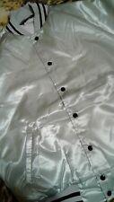 "Sportsmaster  Mens Vintage SILVER NYLON Button Front Jacket SIZE ""L"" OR M"
