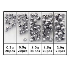 100pcs Round Split Shot Sinker Removable Fishing Weight Sinkers 5 Sizes Weights