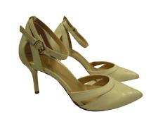 Kurt Geiger carvela Ancho Blanco Zapatos Taco Alto Ajuste y Correa en el Tobillo Nupcial Talla 7 Nuevo
