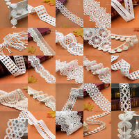 DIY Sewing Craft Gift Vintage Embroidered Lace Edge Trim Ribbon Wedding Applique