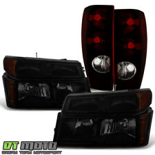 2004-2012 Colorado/Canyon Blk Smoke Parking Signal Headlights+Tail Lights Lamps (Fits: Isuzu)