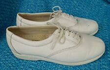 SAS Tripad Comfort Women White Leather Lace Up Oxford Shoe USA 6.5 M