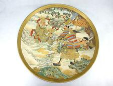 XXL Großer schwerer Wandteller Satsuma Japan Meiji