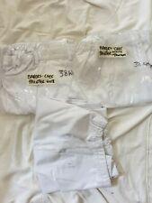 "Three Pairs Chefs White Trousers 38"" Waist Catering"