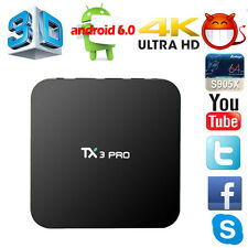 2017 Hot 1G+8G Amlogic S905X TX3 Pro 4K Smart TV Box Android 6.0 Quad Core
