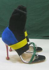 """Multi 4.5""""Stiletto HIGH Heel socks ankle strap Open Toe Sexy Shoe WOMEN Size 7.5"""