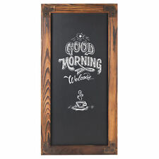 MyGift 12 X 25-Inch Wall-Mounted Erasable Chalkboard with Dark Brown Wood Frame