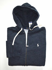 New Men's Polo Ralph Lauren Full-Zip Sweatshirt Hoodie, Blue, M, Medium