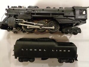LIONEL 2046 STEAM ENGINE AND 2046W TENDER.