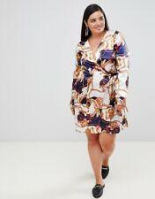 430ab7061e BNWT £38 ~ ASOS ~ Unique 21 Hero ~ Scarf print long sleeve wrap dress