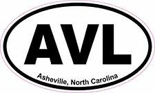 Ashville North Carolina AVL Oval Vinyl Decal Sticker
