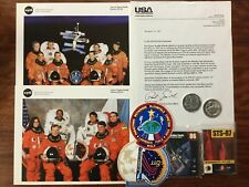 NASA Space Shuttle Mission STS 86 & 87 Crew Photo Mission Sticker Cards Coin