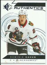 18-19 SP Rookie Authentics Blue Parallel Dominik Kahun RC #119 Blackhawks