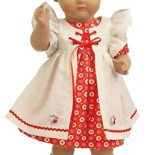 Schildkröt Vestidos de muñeca, roja con claro Delantal para 49 cm Muñecas