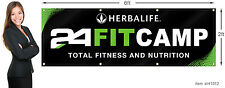 Herbalife 24 Fit Camp Banner 2x6 ft (24x72 inch) Outdoor or Indoor Use.