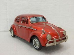 "Bandai Japan Bump N Go Volkswagen Beetle VW Bug Battery Operated 10"" Red 960"