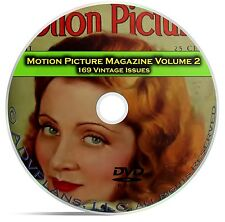 Motion Picture Movie Fan Magazine, Vol 2, 169 Issues, 1925 - 1941, DVD CD C12