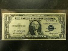 1935 E $1 DOLLAR UNITED STATES SILVER CERTIFICATE STAR REPLACEMENT BILL RARE