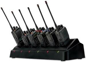 Genuine Motorola Vertex Standard 6 Six Way VX-261 EVX-261 EVX-531 Charger