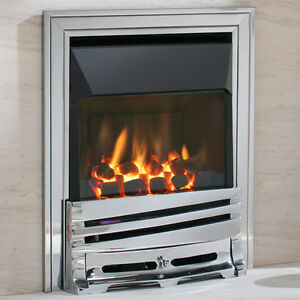 High Efficiency Glass Fronted Gas Fire 4kw H/output Efficiency 90%