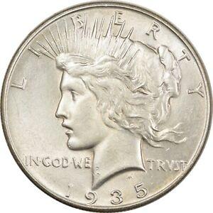 1935 PEACE DOLLAR - HIGH GRADE, NEARLY UNCIRC LOOKS CHOICE!