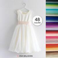 Ivory Flower Girl Dress, Communion Dress, Junior bridesmaid dress size 1-12 yo