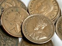 Huge 149pc LOT Canada Canadian One Cent 1929 - 1999 King George Queen Elizabeth