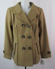 Croft & Barrow Women's Tan Color Double Breasted Peacoat Size M Y285